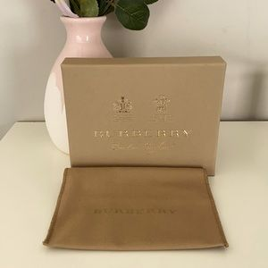 Burberry Wallet Box and Dustbag
